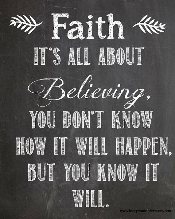 Instant Download-Faith  amp  Belief Motivating Quote on Chalkboard    Quotes About Believing In God And Having Faith