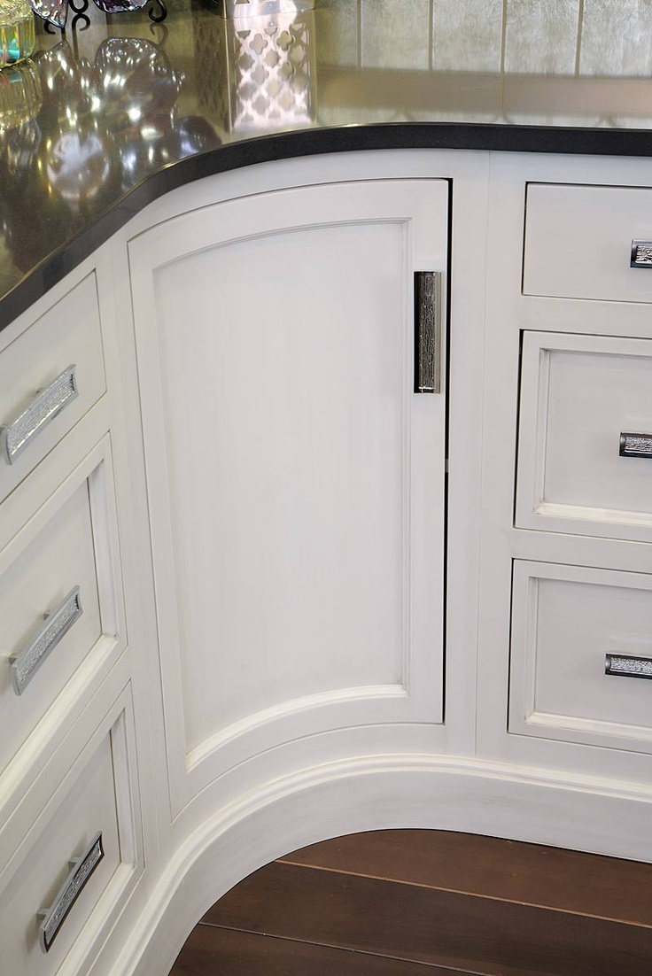 Custom Curved Cabinet Door White Cabinetry Pinterest