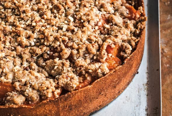 Apricot Tart | Tarte Crumble aux Abricots from Leite's Culinaria