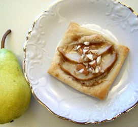 Easy to make: Bartlett Pear Pastries with Almonds and Spiced Honey