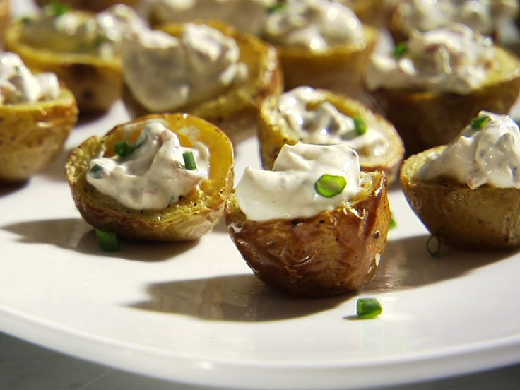 Crispy Baby Potato Bites with Sour Cream and Bacon from FoodNetwork ...