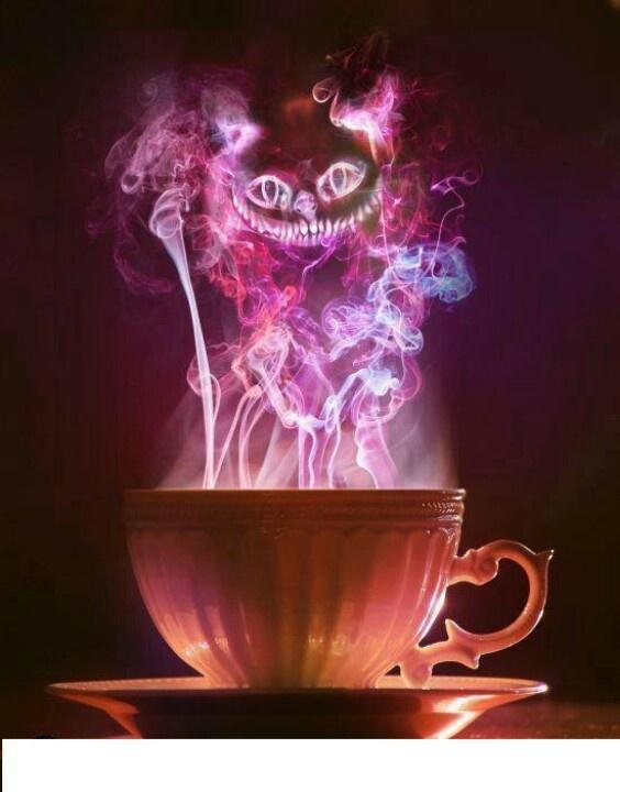 Cheshire cat in smoke ...