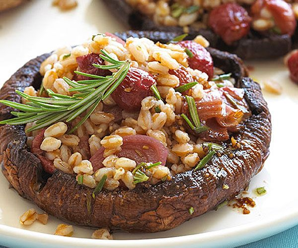 Roasted Portobello Mushroom Packets With Garlic, Shallots, And ...