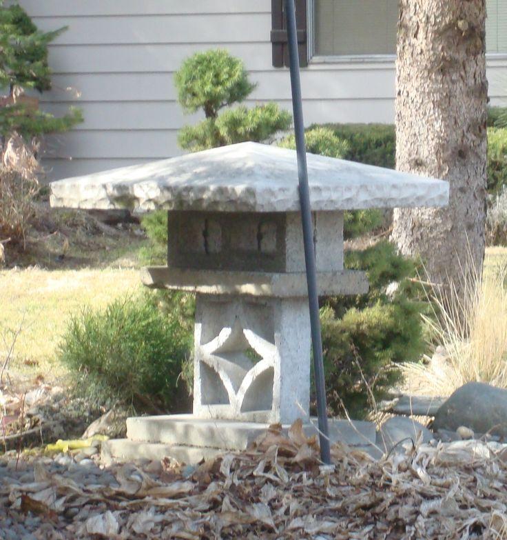 Diy Mason Block Japanese Stone Lantern Garden Pinterest