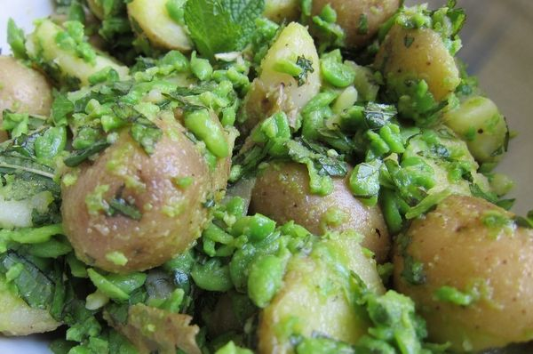 Potato Salad with Peas and Mint | Fave Recipes | Pinterest