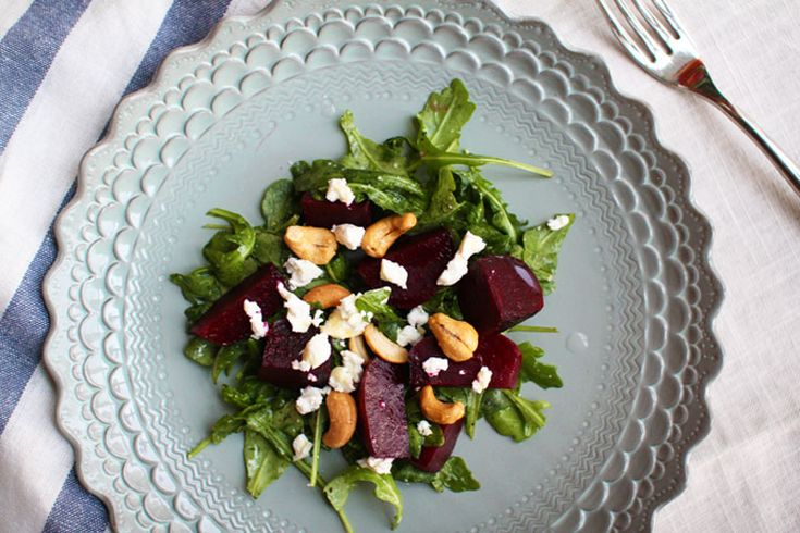 Beet Salad with Arugula and Goat Cheese | finding I don't hate beets ...