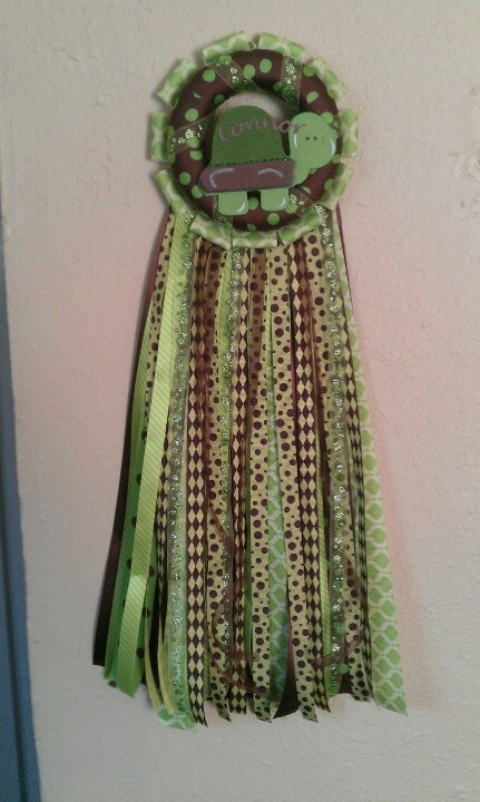 green brown turtle baby shower mum it could also be used on the door