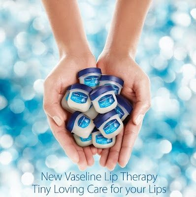 The many beauty uses of mini vaseline I keep in my purse for quick fixes:  lip  skin care, tame eyebrows  flyaways, nail  cuticle care  much much more!