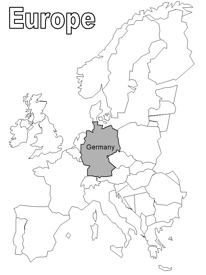 Germany Located In Europe Coloring Page Germany Pinterest Germany Coloring Pages