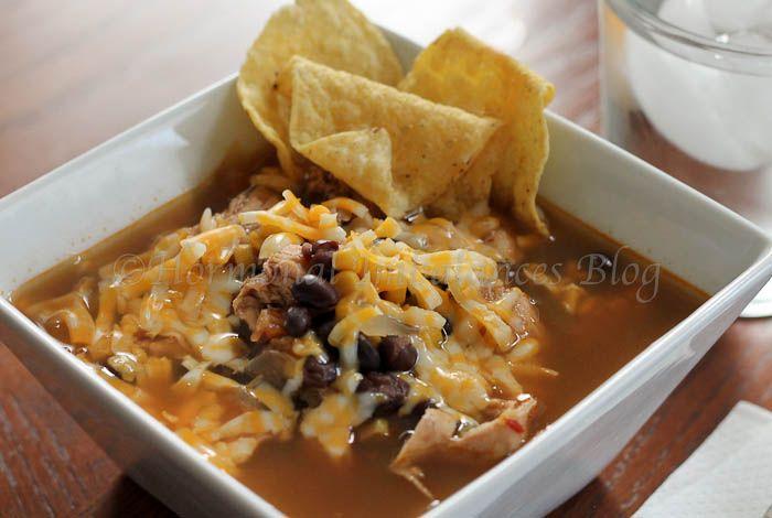 Slow Cooker Chicken Tortilla Soup - Love me some tortilla soup!