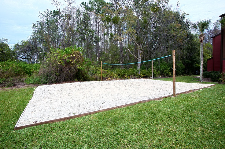 Backyard Sand Volleyball Court : Sand volleyball court  Parkway International Resort  Bring a little