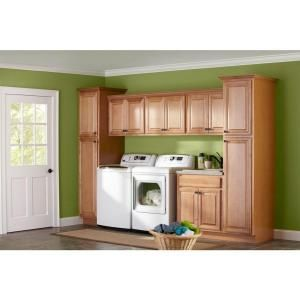 Hampton bay 18x84x24 in pantry cabinet in hampton satin for 42 inch kitchen cabinets home depot