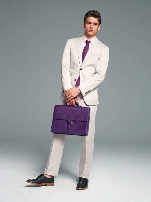 purple tie & bag