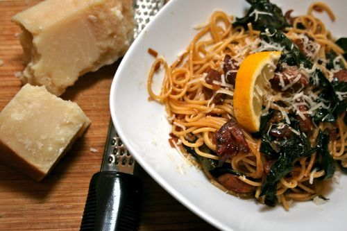 Braised Kale with Spaghetti and Chorizo | Recipes to Try | Pinterest