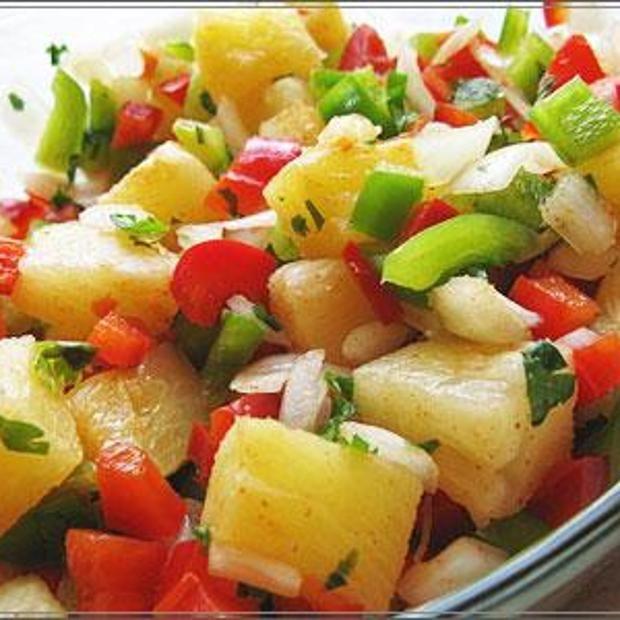 Pineapple Salsa   Recipes   Pinterest