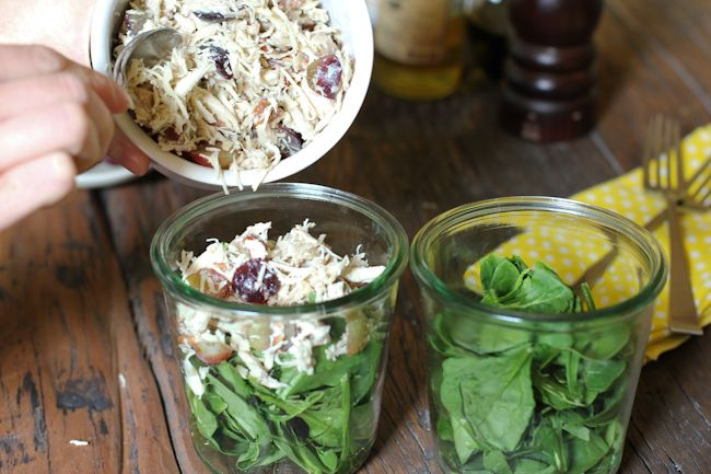 Chicken Salad Recipe in a Jar   food coma   Pinterest