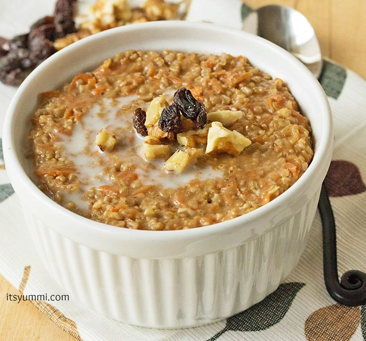 Carrot Cake Steel Cut Oatmeal from @It's Yummi! (Cooking with Chef Bec) #brunch #recipe