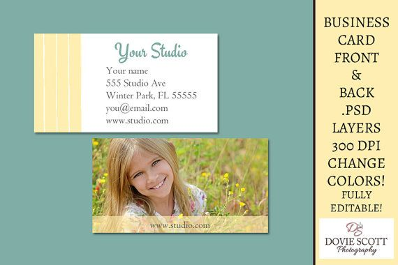 Business card template front and back 325x175 300 for Front and back business card template