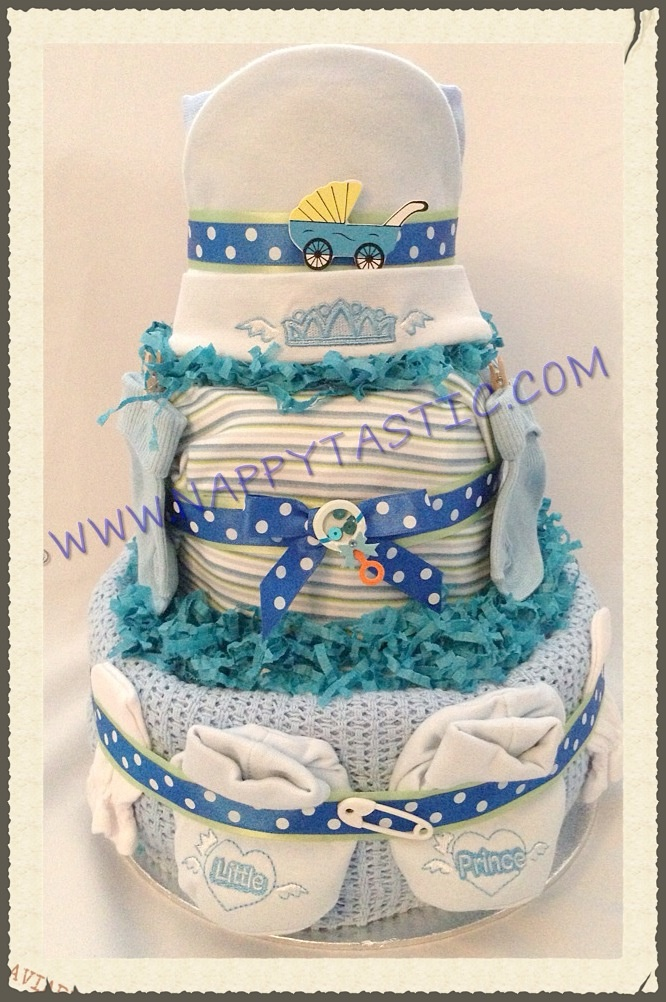 Baby Prince Nappycake Filled To The Brim With All Useful Items