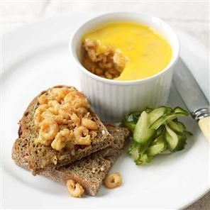 Potted shrimps with pickled cucumber Recipe | delicious. Magazine free ...
