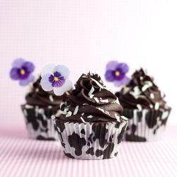 ... Chocolate Coconut Rum Cupcakes. #food #chocolate #rum #coconut #