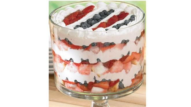 ... Red, White & Blueberry Trifle between bites while rooting for your
