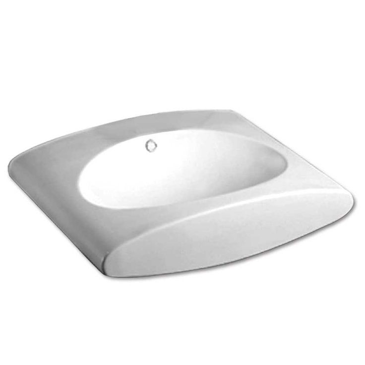 Home Depot Wall Mount Sink : ... Wall Mount Bathroom Sink in White-WHKN1098-WH at The Home Depot