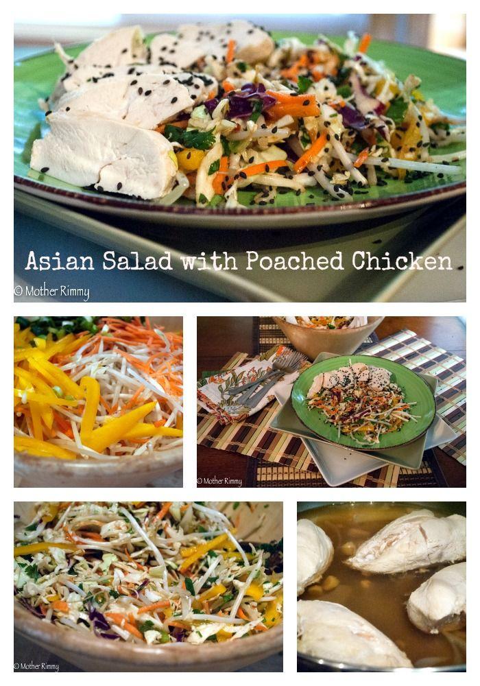 ... /recipe-asian-cabbage-salad-poached-chicken/ #recipes #salad #chicken