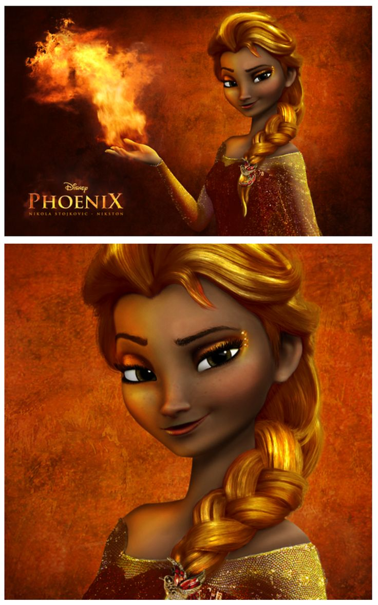 Elsa the Fire Queen. The Phoenix Empress. The Girl on Fire! Perfect. This must happen! XD