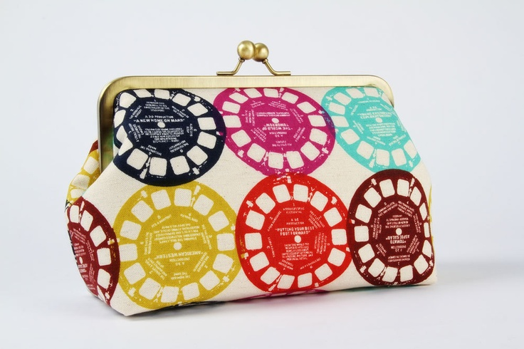 Brings back so many memories!  Colorful viewfinders  metal frame pouch by octopurse