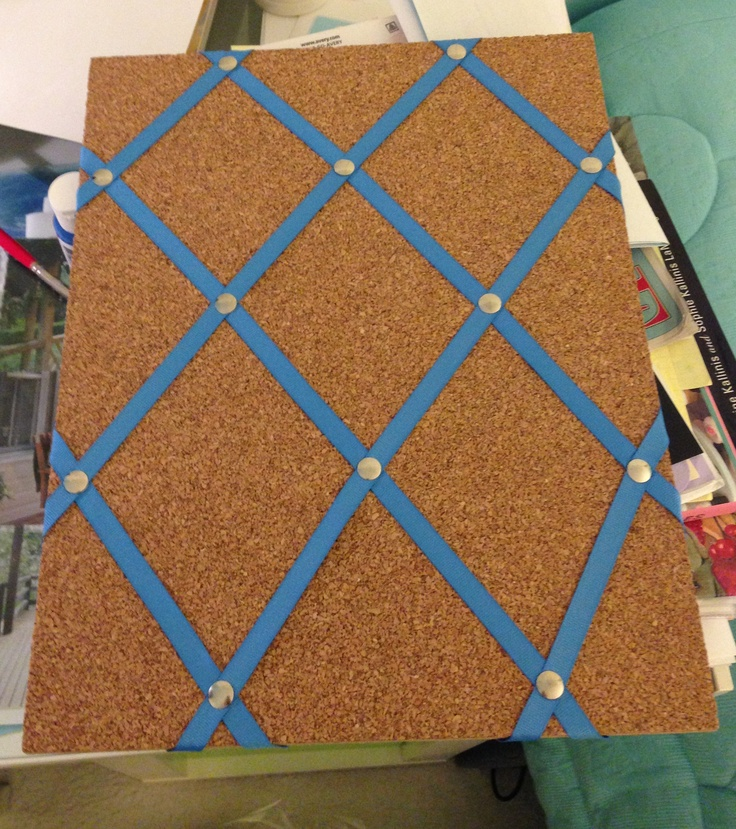 Ribbon cork board craft ideas pinterest for Cork board decorating ideas pinterest