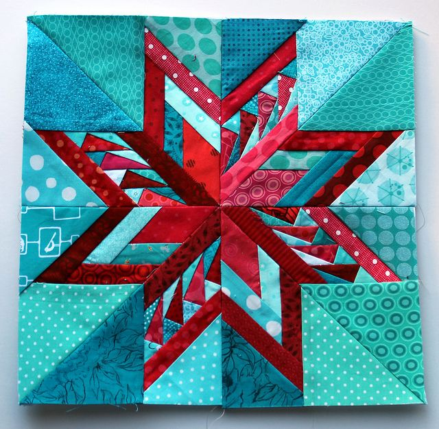 paper piecing star block 15 by wombatquilts, via Flickr