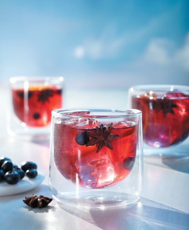 West hollywood punch 5 parts grey goose 174 vodka 4 parts red grape