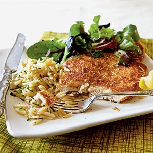 Dinner for Two: Chicken Milanese with Spring Greens | CookingLight.com