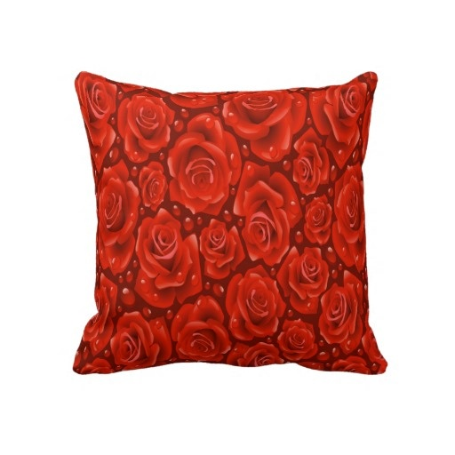 Red Roses Decorative Throw Pillow 20 x 20