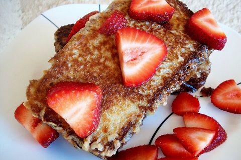 Best Brunch dish ~ Strawberry stuffed brioche french toast #GEFreshFL