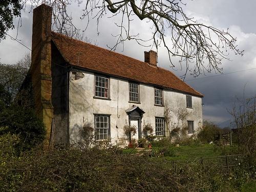 Stone farmhouse returning to the earth