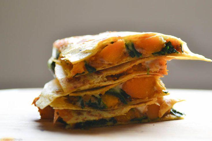 butternut squash and kale quesadillas | Food, glorious food! | Pinter ...