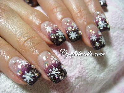 violet gradient. #nails