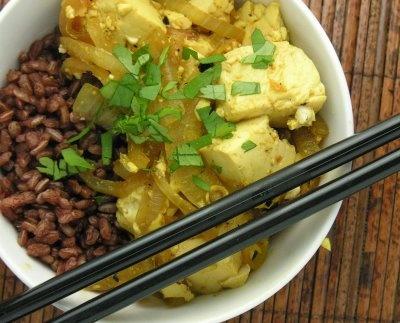 Lemongrass tofu. The verdict: scrum-diddly-umptious!