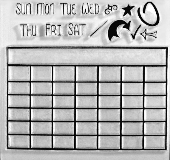 Blank Calendar Stamp : Calendar blank clear stamps