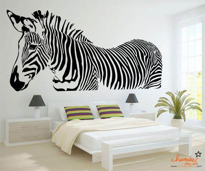 Superior Zebra Wall Decal. $45.00, Via Etsy. Part 17