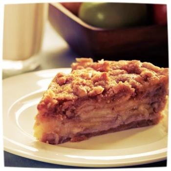 Layered Apple Pie with Streusel Topping