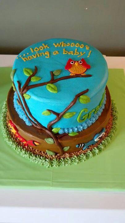 Forest Animals Baby Shower Cake Foto Artis - Candydoll