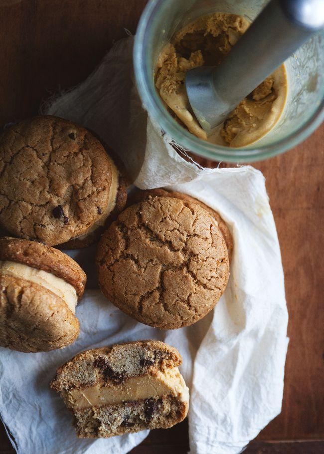 Pumpkin And Gingerbread Ice Cream Sandwiches Recipes — Dishmaps