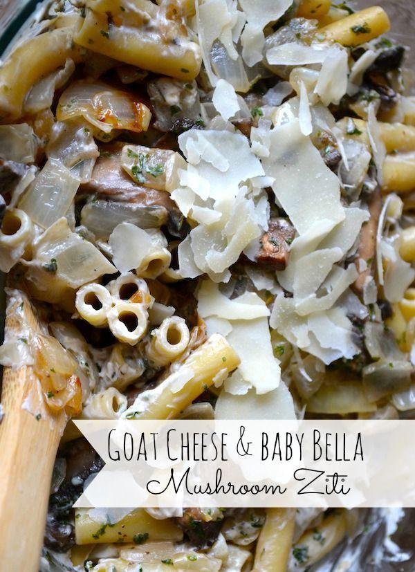 Goat Cheese & Baby Bella Mushroom Ziti from Rachel Schultz http ...