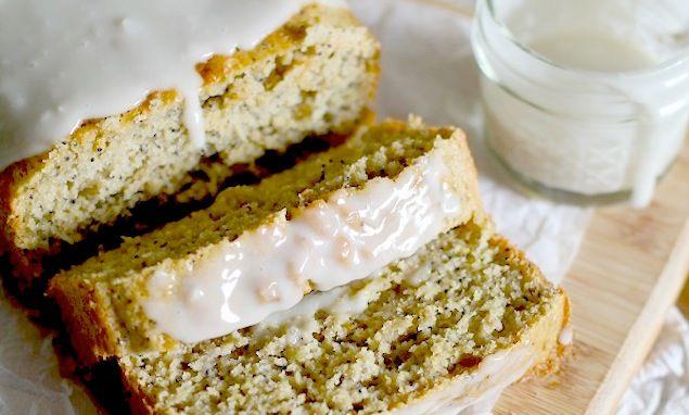 Gluten-Free Lemon Poppy Seed Bread with Honey-Lemon Glaze | Recipe