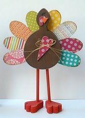 Wood Thanksgiving Turkey