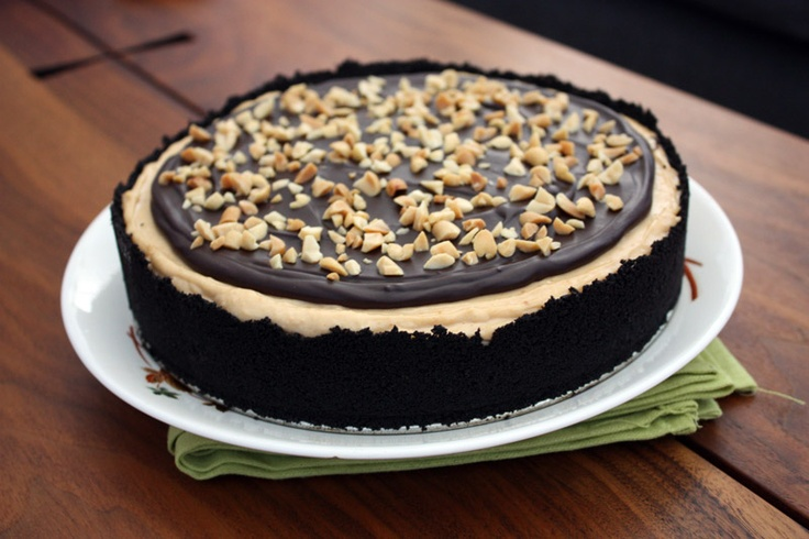 Mia's own recipe! Chocolate and Peanut Butter Mousse Ice Box Cake