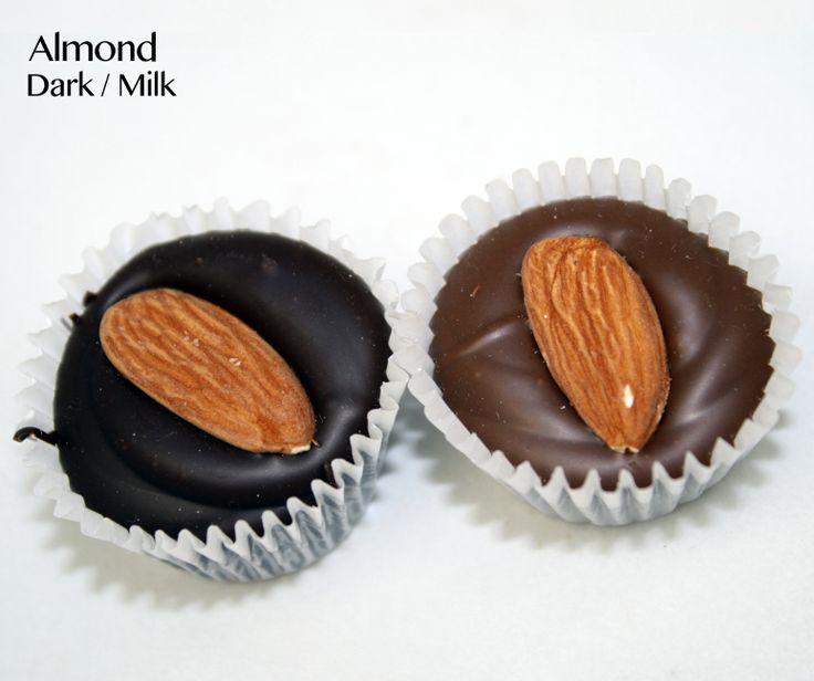 Dark chocolate almond cluster | Vegan @ BirminghamChocolate.com | Pin ...